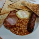 Typowe angielskie śniadanie